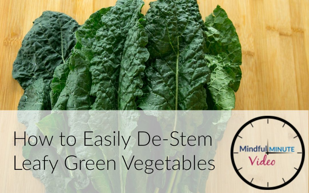 How to Easily De-Stem Leafy Green Vegetables (Video)