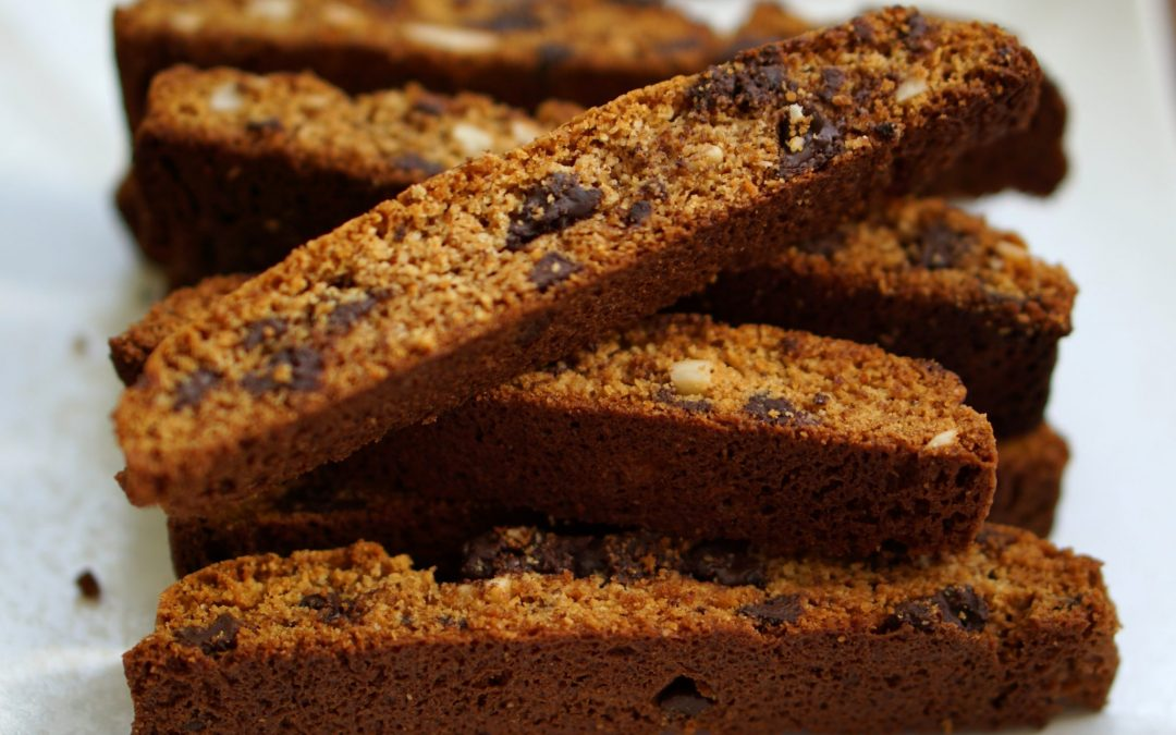 Mom's Chocolate Chip Almond Biscotti