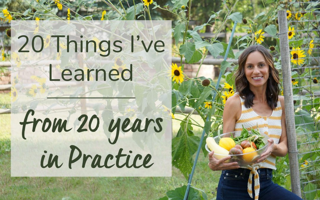 20 Things I've Learned from 20 Years in Practice