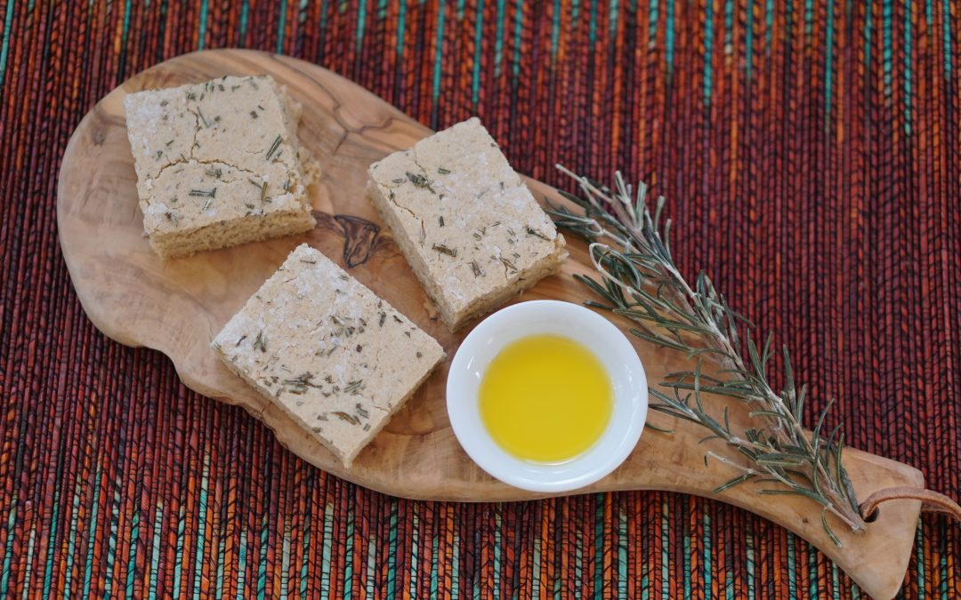 Sprouted Grain Rosemary Focaccia Flatbread (gluten, dairy, egg, nut, soy, yeast free)
