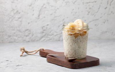 Peanut Butter & Banana Chia Pudding