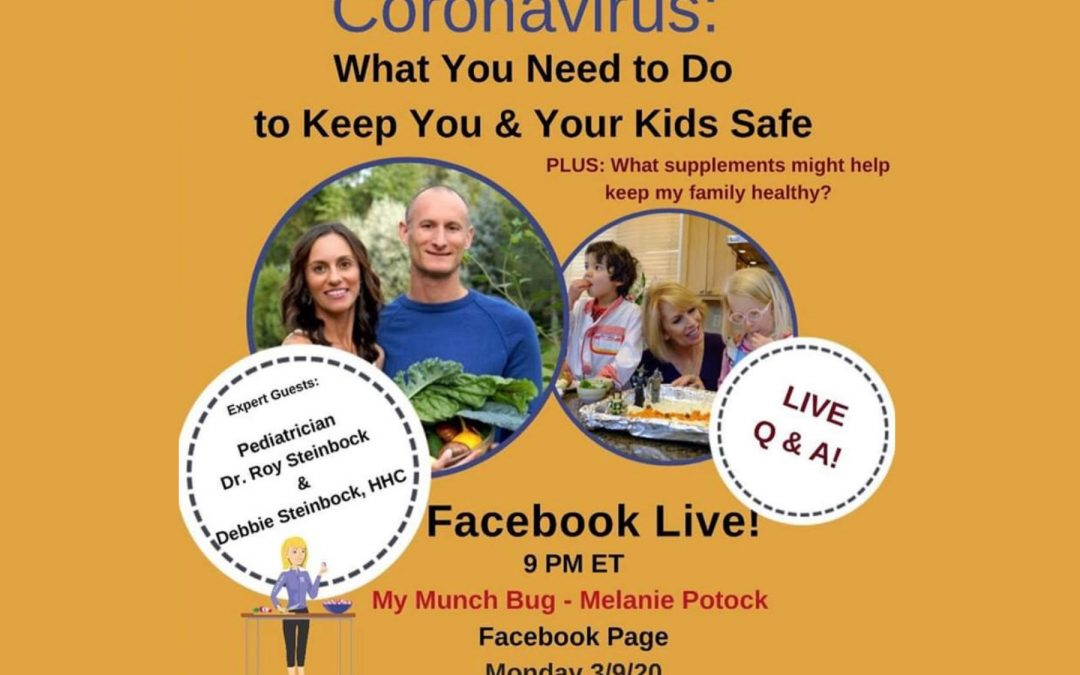 Watch Our Facebook Live with Melanie Potock: What Supplements Will Optimize Your Child's Immune System?