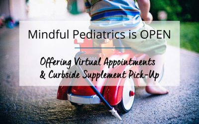 Mindful Pediatrics is Open: Offering Virtual Appointments & Curbside Supplement Pick-Up