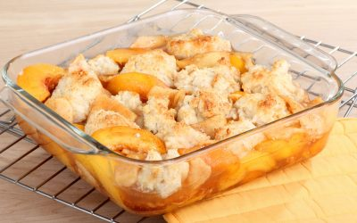 Peach Cobbler with Biscuit Topping